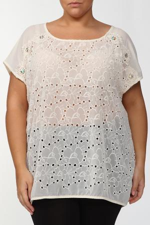 Блузка LA VELINA. Цвет: бежевый