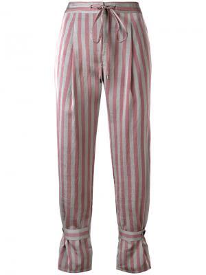 Укороченные брюки в полоску Jil Sander Navy. Цвет: серый