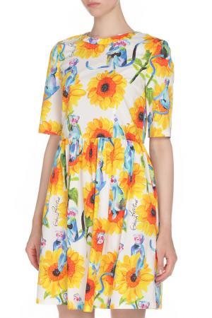 Свободное платье с принтом GIULIA ROSITANI. Цвет: цветной
