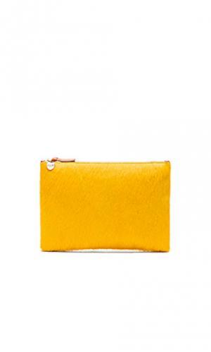 Плоский клатч Clare V.. Цвет: горчичный