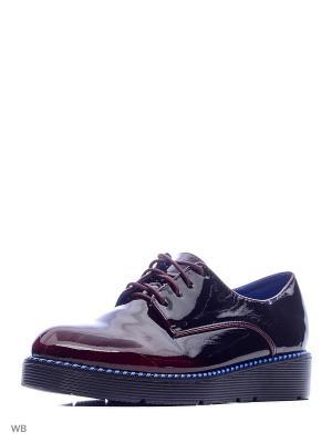 Ботинки Camidy. Цвет: бордовый