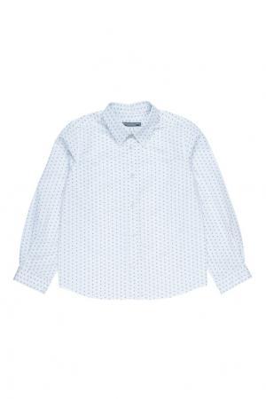 Белая хлопковая рубашка ACTEUR Bonpoint. Цвет: белый