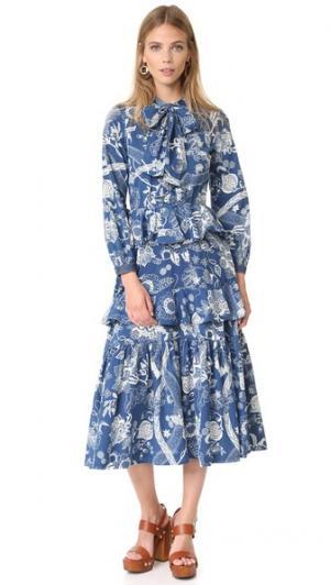Платье Oasis Warm. Цвет: синий батик