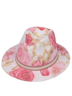 Шляпа Fabretti. Цвет: розовый, белый