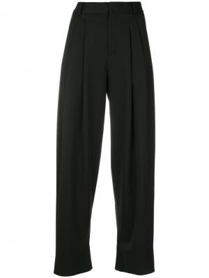 Укороченные широкие брюки Saint Laurent. Цвет: чёрный