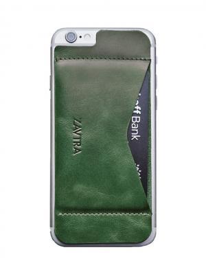 Кошелек-накладка для iPhone 6/6s ZAVTRA. Цвет: зеленый