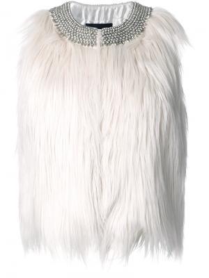 Туника с декорированным воротником Steffen Schraut. Цвет: белый