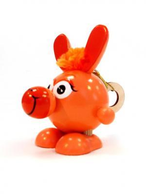 Игрушка подвеска на пружине - Ослик персиковый Taowa. Цвет: персиковый