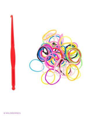 Резинки для плетения Loom Bands. Цвет: голубой, желтый, черный, зеленый