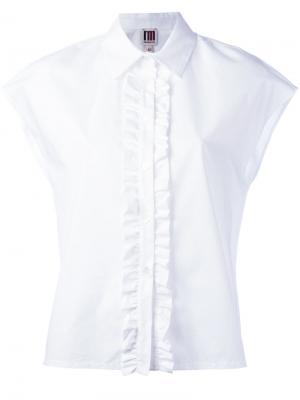 Рубашка с оборчатой планкой IM Isola Marras I'M. Цвет: белый