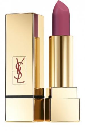 Помада для губ Lipstick Rouge Pur Couture  Mats, оттенок 207 YSL. Цвет: бесцветный
