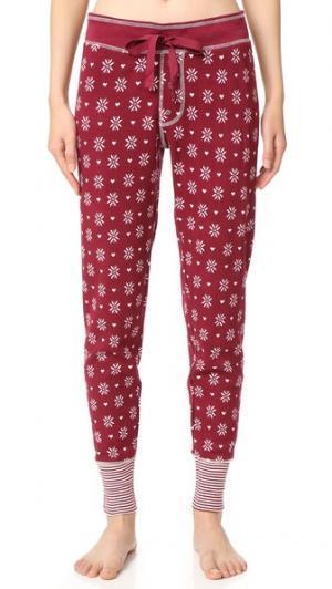 Пижамные брюки Nordic Nostalgia PJ Salvage. Цвет: винный