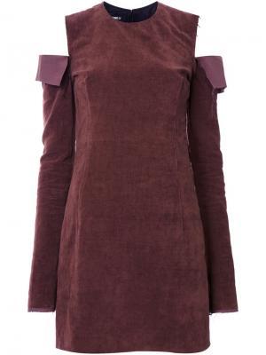 Платье Torn Yang Li. Цвет: коричневый