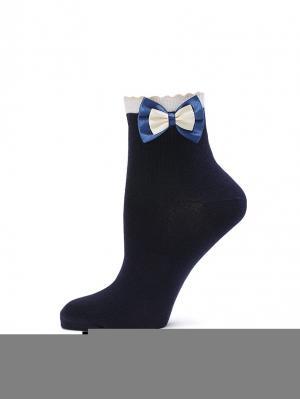 Носки LARMINI. Цвет: синий, кремовый