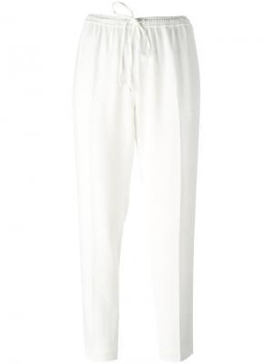 Укороченные брюки Alexander Wang. Цвет: белый