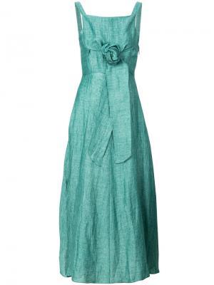 Легкое платье с поясом Masscob. Цвет: зелёный