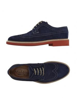 Обувь на шнурках MALDINI. Цвет: темно-синий