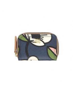 Бумажник ORLA KIELY. Цвет: темно-синий