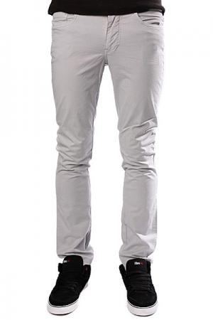 Штаны прямые  Spoon Skinny Fit Pant Solid Grey Dickies. Цвет: серый
