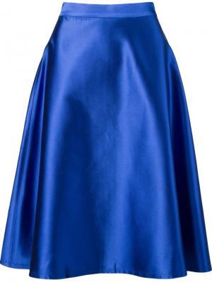 Midi A-line skirt Vitorino Campos. Цвет: синий