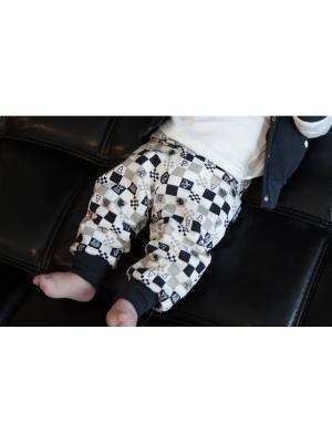 Штанишки детские (футер) Lucky Child. Цвет: темно-серый, бежевый, молочный