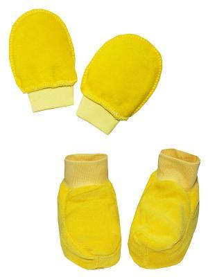 Набор: пинетки, антицарапки КОТМАРКОТ. Цвет: желтый