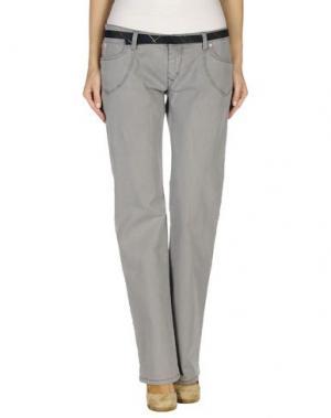Джинсовые брюки GURU. Цвет: серый