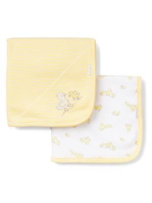 Комплект из 2-х одеял Утята Little Me. Цвет: желтый, белый
