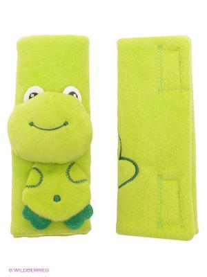 Накладка д/ремня безопасности Лягушка (0-12мес) BenBat. Цвет: зеленый