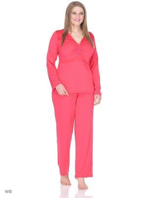Пижама KrisLine. Цвет: красный