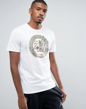 Jordan Белая футболка с карманом Nike Pure Money 844290-100. Цвет: белый