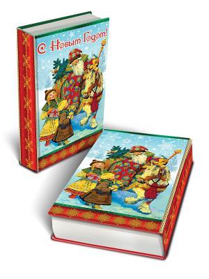Декоративная шкатулка Дед Мороз и дети (17*11*5см, из МДФ) Magic Time. Цвет: голубой, красный