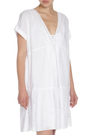 Легкое платье с декором по низу Liu Jo Jeans. Цвет: белый