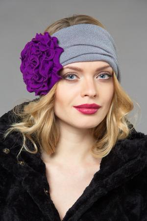 Повязка LakMiss. Цвет: серый, пурпурный