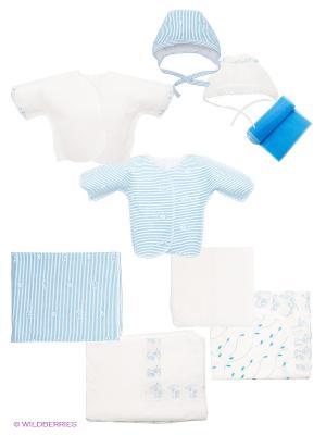 Комплект Апрель. Цвет: белый, голубой