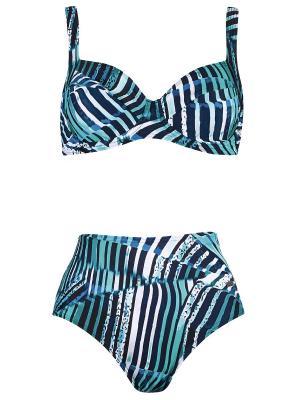 Купальный костюм NATURANA. Цвет: морская волна