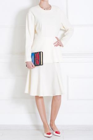 Шерстяное платье Tata Naka. Цвет: кремовый
