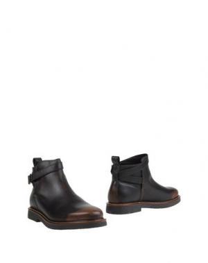 Полусапоги и высокие ботинки ANTICA CUOIERIA. Цвет: темно-коричневый