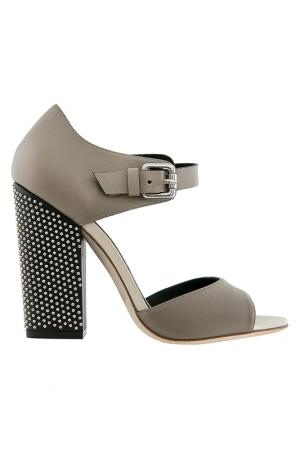Heeled sandals Grey Mer. Цвет: gray