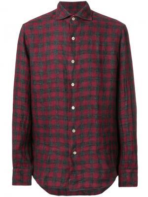 Рубашка в клетку Alessandro Gherardi. Цвет: красный