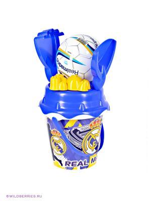 Песочный набор Реал Мадрид с мячом Unice. Цвет: синий