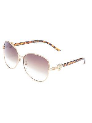 Солнцезащитные очки KEDDO. Цвет: золотистый