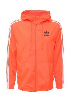 Ветровка adidas Originals. Цвет: оранжевый