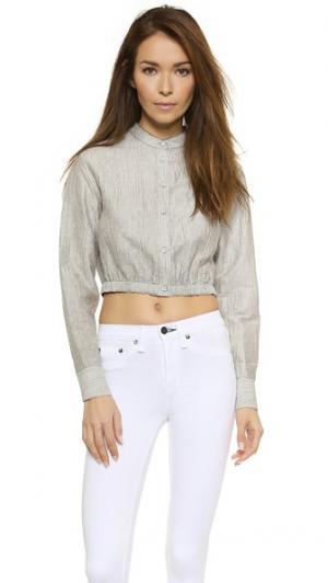 Укороченная рубашка Slater Rag & Bone. Цвет: черно-белая полоска