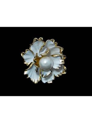 Кольцо для платка Miss Bijou. Цвет: белый,золотистый