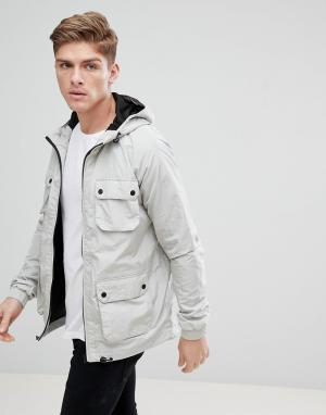 Burton Menswear Серый дождевик с карманами. Цвет: серый