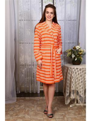 Халат Сказка Vilana. Цвет: оранжевый