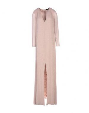 Длинное платье JENNY PACKHAM. Цвет: светло-коричневый
