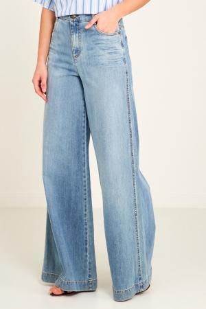 Широкие джинсы Red Valentino. Цвет: голубой