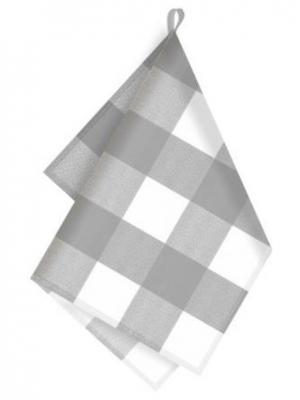 Полотенце кухонное, 35 х 50 см IQ-DEKOR. Цвет: серый меланж, белый